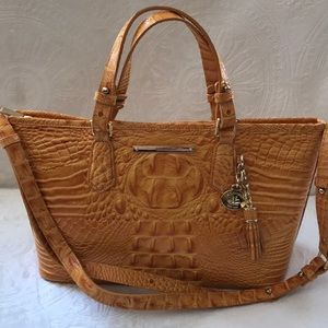 Brahmin mini Asher Mango leather handbag Pristine